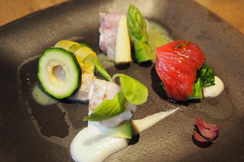 熟成魚と旬野菜の盛り合わせ