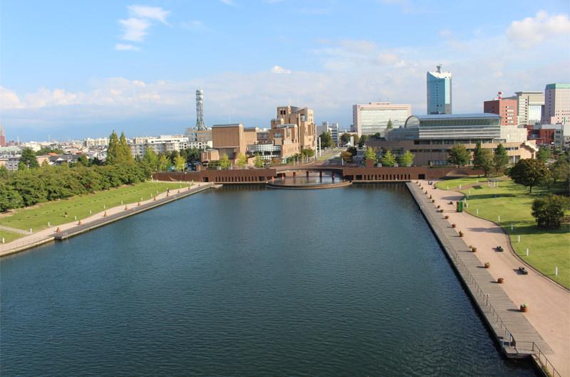 展望塔から見る環水公園