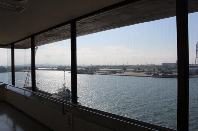 富山港展望台からの景色