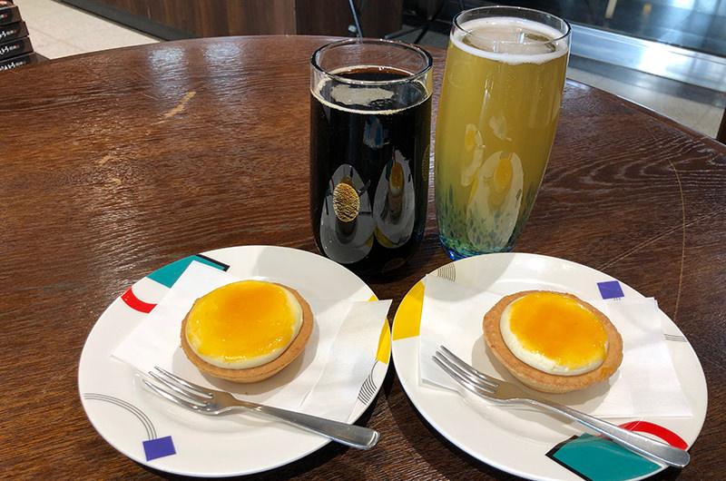 ビールのお供にはチーズタルトを