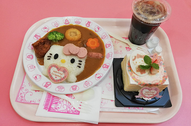 栄養バランスキティカレー キティのアニバーサリーケーキ
