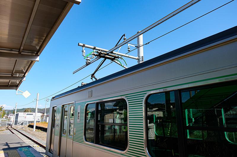 烏山駅の充電ゾーン