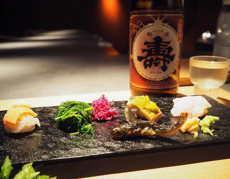 地元の旬の食材を中心とした山形座 瀧波の夕食