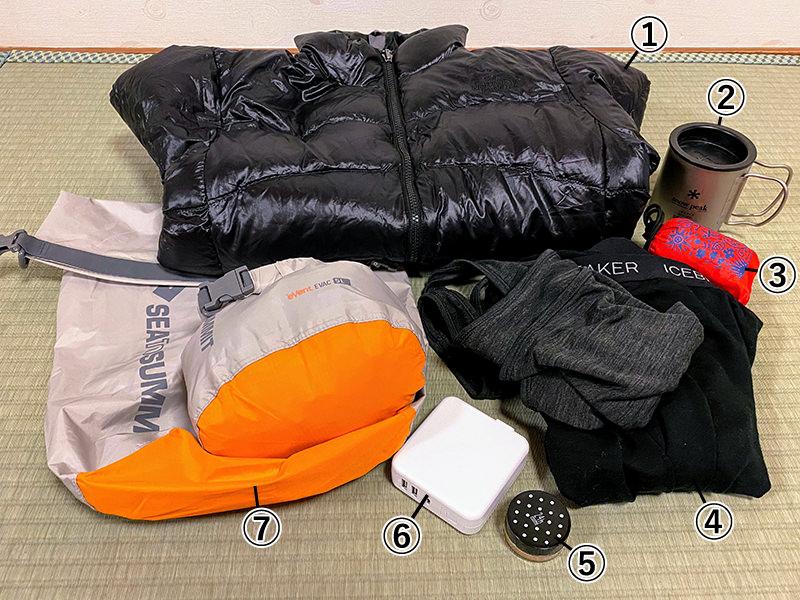 衣服やバッグなどの旅アイテム