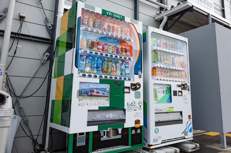 緑の自販機
