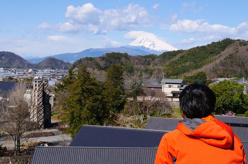 反射炉 富士山 筆者