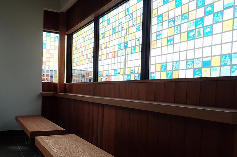 桑川駅の待合室