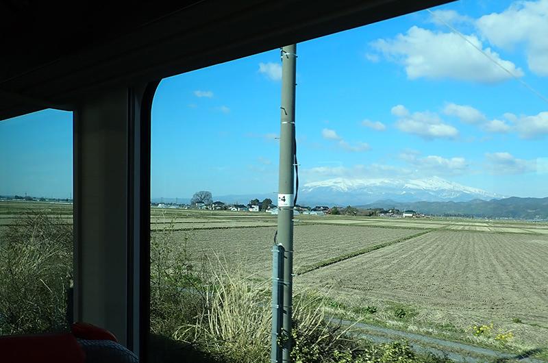 海里 酒田駅から鶴岡駅間の車窓