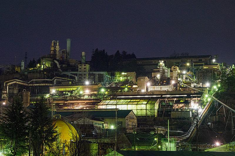 安中製錬所の夜景