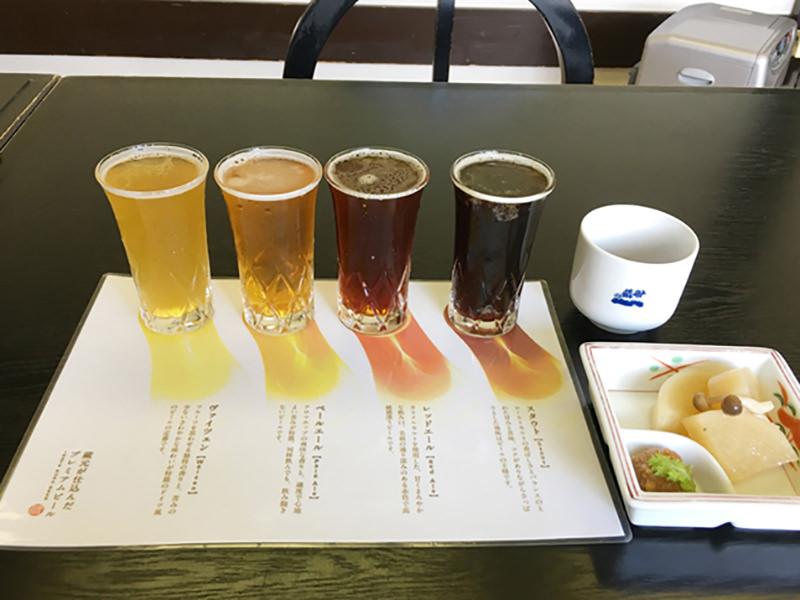 定番のビールを少量ずつ味わえるお得セット
