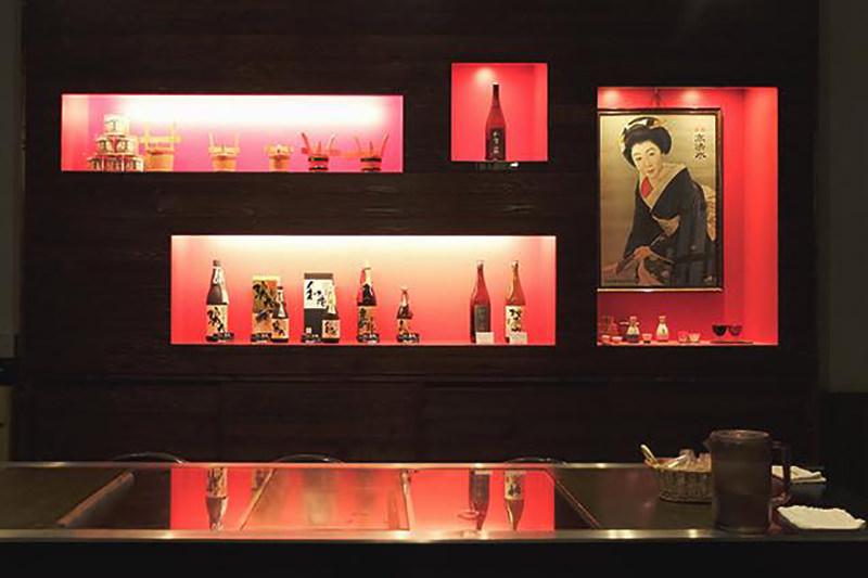 日本酒の展示
