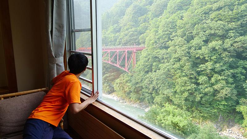 客室からの眺め トロッコ電車