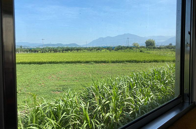 長野電鉄の車窓