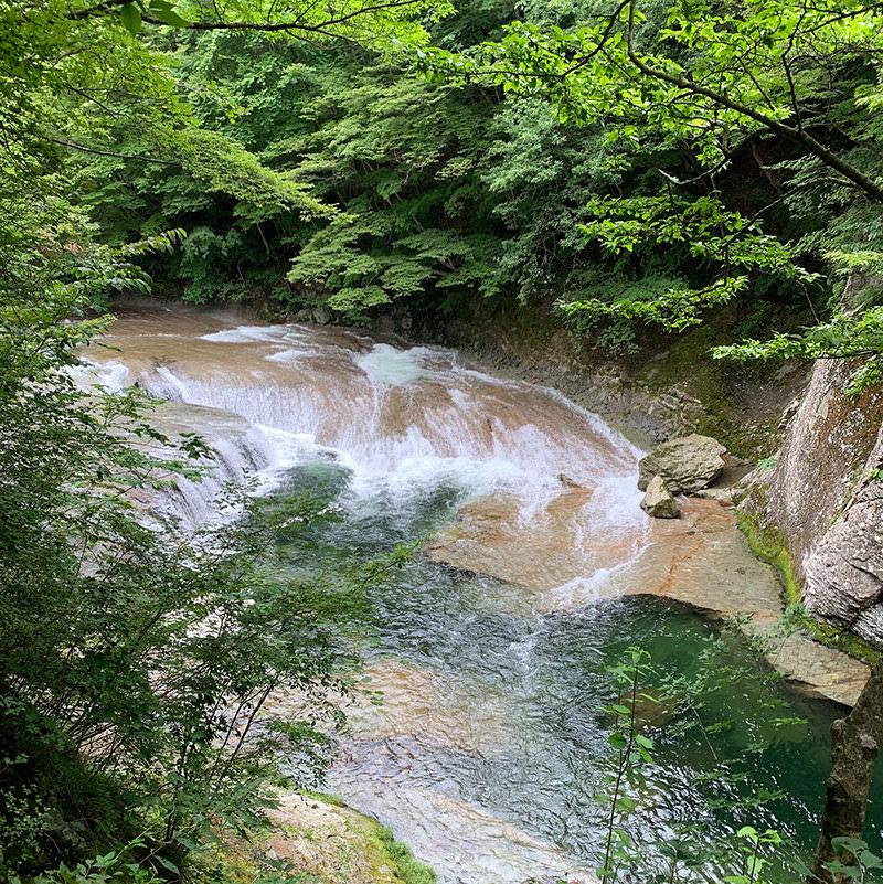 秋保大滝植物園 すだれ滝