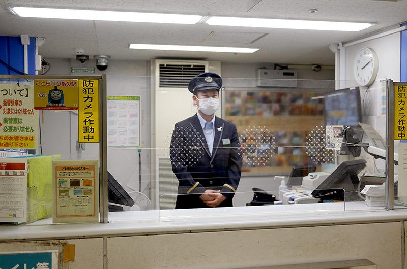JR東日本の駅の改札窓口に設置されたアクリル板