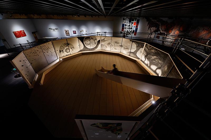 展示室に設置されたスロープ