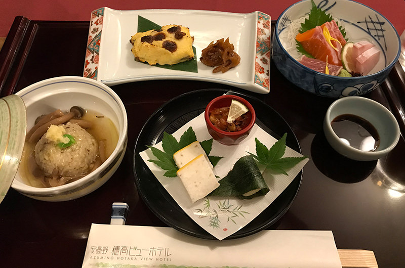 安曇野穂高ビューホテルの夕食