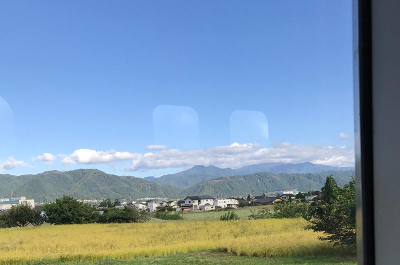 大糸線 車窓