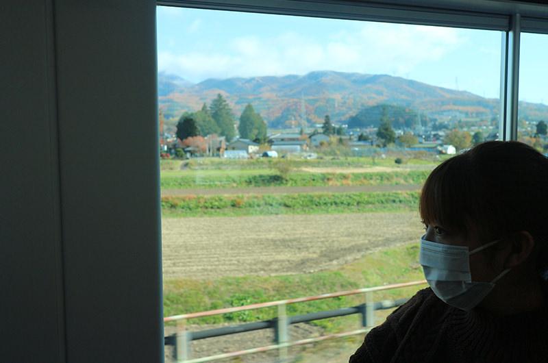 特急あずさ車窓 塩尻駅と松本駅間