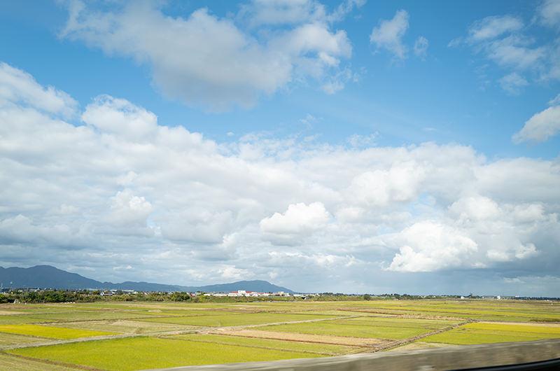 上越新幹線 新潟駅付近の車窓
