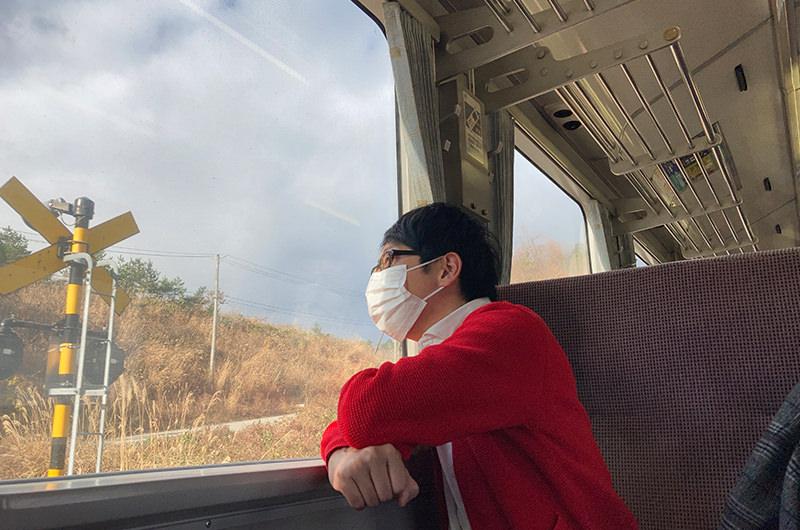 米坂線 車窓