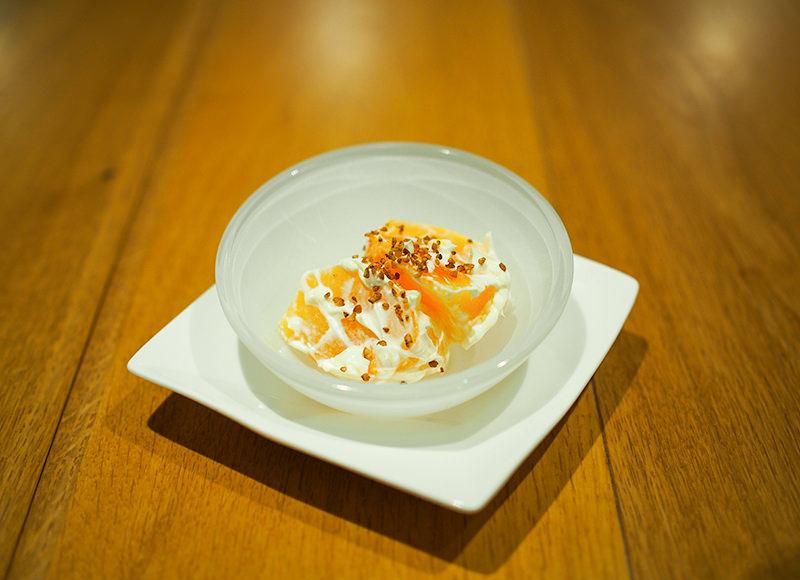 庄内柿のマスカルポーネチーズ和え
