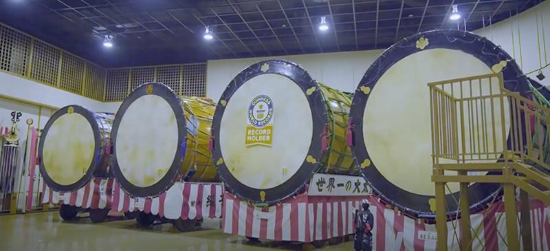 世界一の大きさを誇る大太鼓