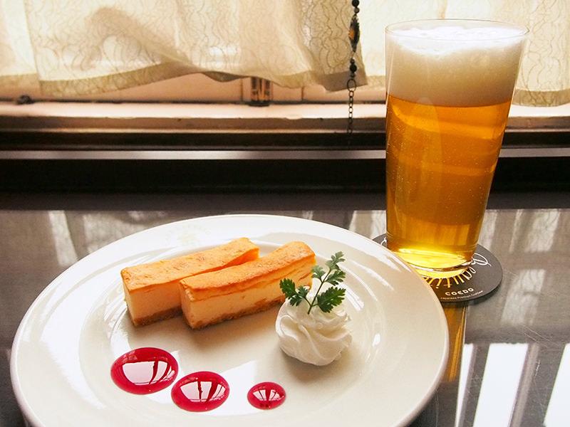COEDOビール「瑠璃」 ベイクドチーズケーキ