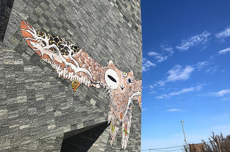 角川武蔵野ミュージアム 外壁
