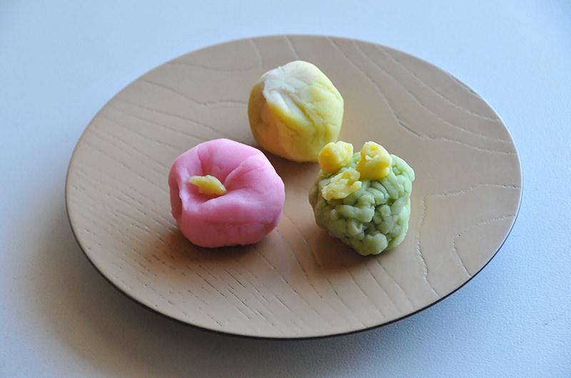 筆者の作った和菓子