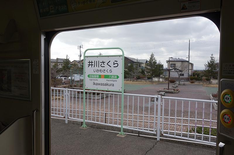 井川さくら駅看板