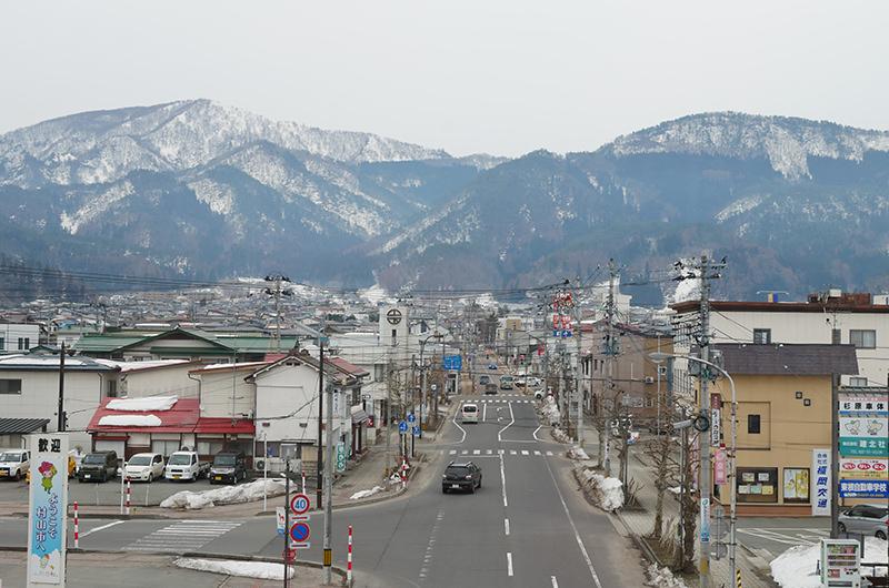 村山駅2階からの風景