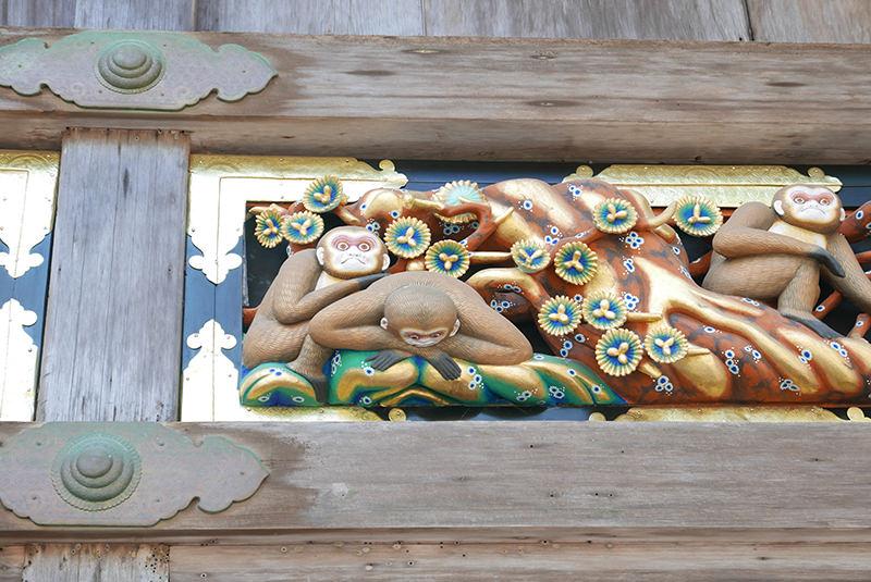 青年期 猿の彫刻