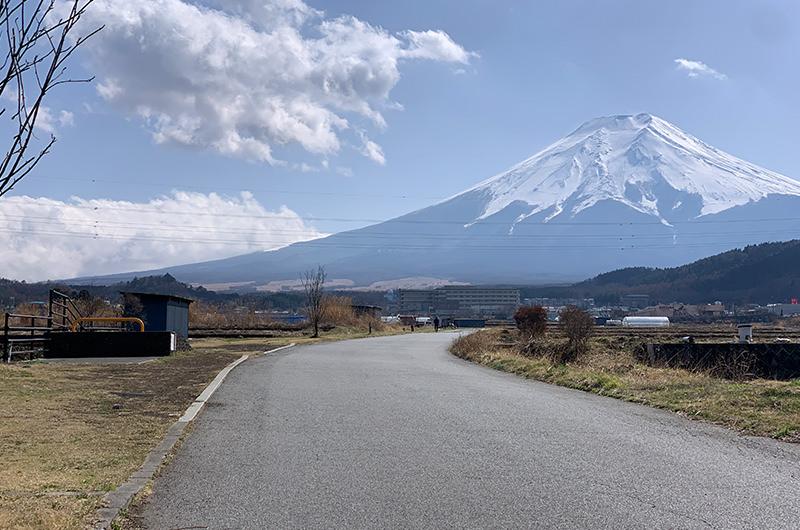 富士山を一望できる農道