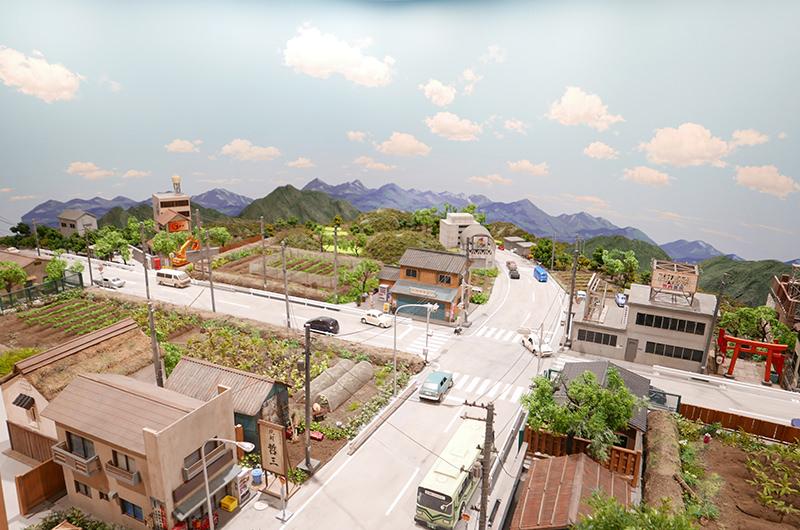 ジオラマ「架空の須賀川市」