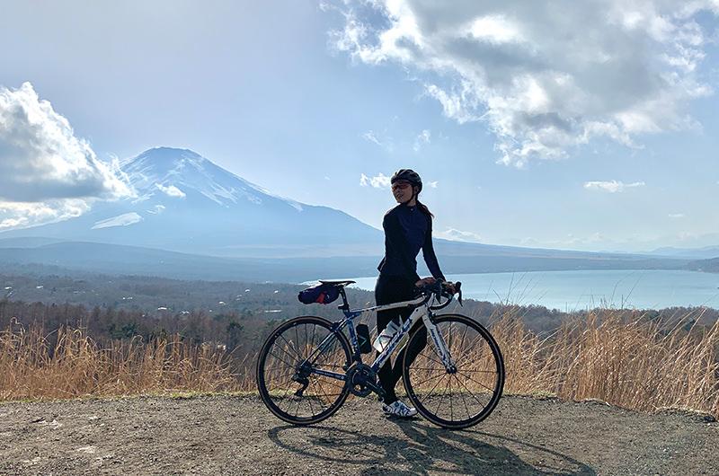 【山中湖・輪行旅】サイクリングで湖畔や高台から富士山を望む