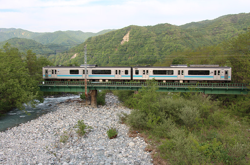 松川橋 大糸線