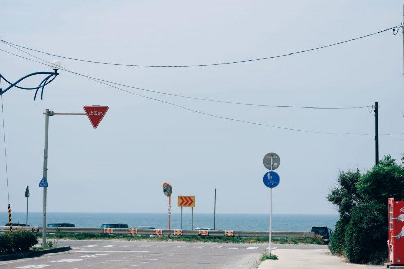 水族館周辺の海沿い