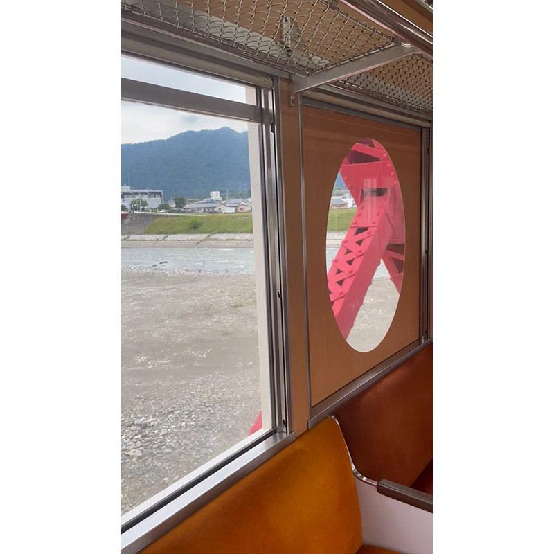 別所線 車窓からの千曲川橋梁