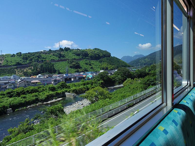 箱根登山電車 車窓