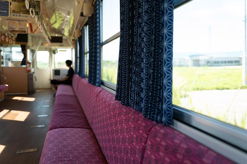 フラワー長井線 車窓